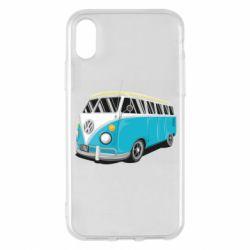 Чехол для iPhone X/Xs Vector Volkswagen Bus