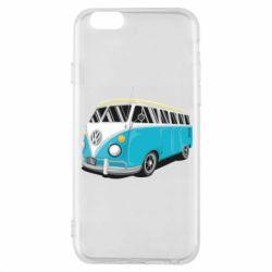 Чехол для iPhone 6/6S Vector Volkswagen Bus