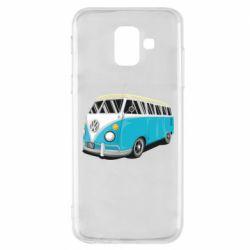 Чехол для Samsung A6 2018 Vector Volkswagen Bus