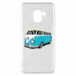 Чехол для Samsung A8 2018 Vector Volkswagen Bus
