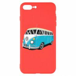 Чехол для iPhone 8 Plus Vector Volkswagen Bus
