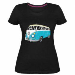 Женская стрейчевая футболка Vector Volkswagen Bus