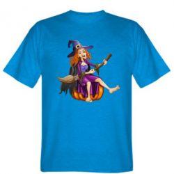 Мужская футболка Ведьма верхом на метле - FatLine
