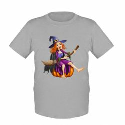 Детская футболка Ведьма верхом на метле - FatLine
