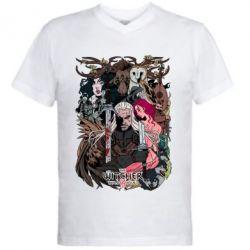 Купить Мужская футболка с V-образным вырезом Ведьмак 1, FatLine