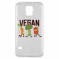 Чохол для Samsung S5 Веган овочі