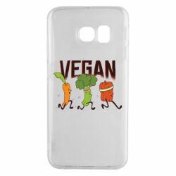 Чохол для Samsung S6 EDGE Веган овочі