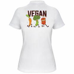 Жіноча футболка поло Веган овочі