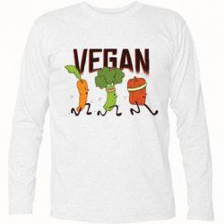 Футболка з довгим рукавом Веган овочі