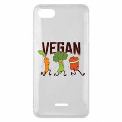 Чехол для Xiaomi Redmi 6A Веган овощи