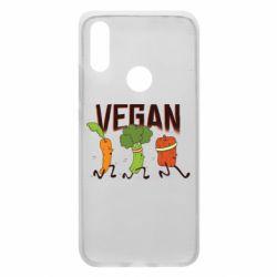 Чехол для Xiaomi Redmi 7 Веган овощи