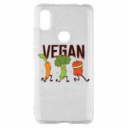 Чохол для Xiaomi Redmi S2 Веган овочі