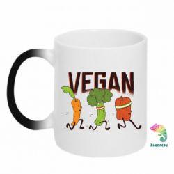 Кружка-хамелеон Веган овочі