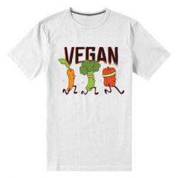 Чоловіча стрейчева футболка Веган овочі