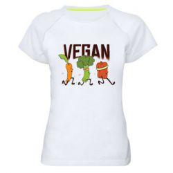 Жіноча спортивна футболка Веган овочі