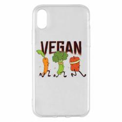 Чохол для iPhone X/Xs Веган овочі