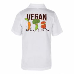 Дитяча футболка поло Веган овочі