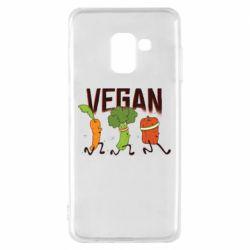 Чохол для Samsung A8 2018 Веган овочі