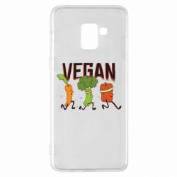 Чохол для Samsung A8+ 2018 Веган овочі