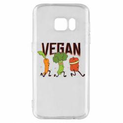 Чохол для Samsung S7 Веган овочі