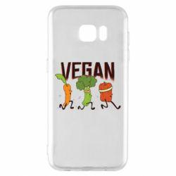 Чохол для Samsung S7 EDGE Веган овочі