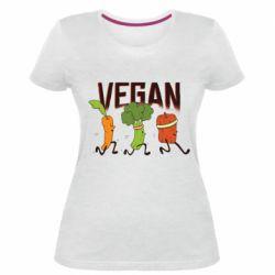 Жіноча стрейчева футболка Веган овочі