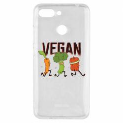 Чехол для Xiaomi Redmi 6 Веган овощи