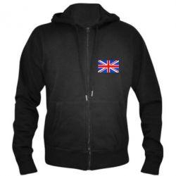 Мужская толстовка на молнии Великобритания - FatLine