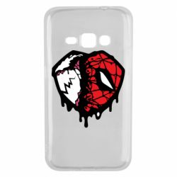 Чехол для Samsung J1 2016 Venom and spiderman