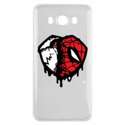 Чехол для Samsung J7 2016 Venom and spiderman