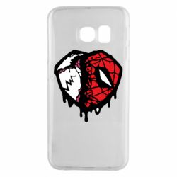 Чехол для Samsung S6 EDGE Venom and spiderman