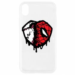 Чехол для iPhone XR Venom and spiderman