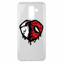 Чехол для Samsung J8 2018 Venom and spiderman