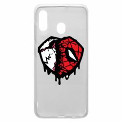 Чехол для Samsung A20 Venom and spiderman