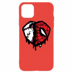 Чехол для iPhone 11 Venom and spiderman