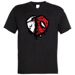 Чоловіча футболка з V-подібним вирізом Venom and spiderman