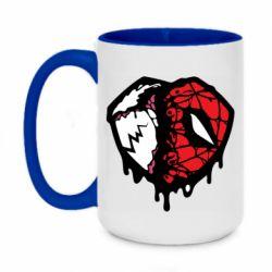 Кружка двоколірна 420ml Venom and spiderman