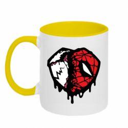 Кружка двоколірна 320ml Venom and spiderman