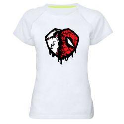 Жіноча спортивна футболка Venom and spiderman