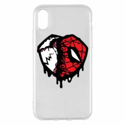 Чехол для iPhone X/Xs Venom and spiderman