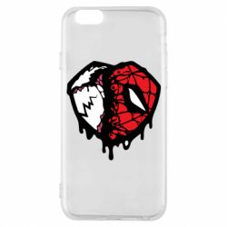 Чехол для iPhone 6/6S Venom and spiderman
