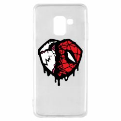 Чехол для Samsung A8 2018 Venom and spiderman