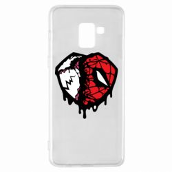 Чехол для Samsung A8+ 2018 Venom and spiderman