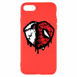 Чехол для iPhone 8 Venom and spiderman