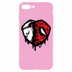 Чехол для iPhone 8 Plus Venom and spiderman