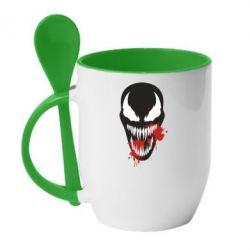 Кружка з керамічною ложкою Venom blood