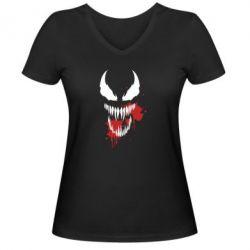 Жіноча футболка з V-подібним вирізом Venom blood