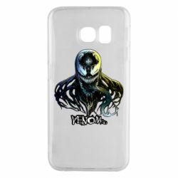 Чехол для Samsung S6 EDGE Venom Bust Art