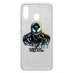 Чехол для Samsung A20 Venom Bust Art