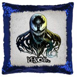 Подушка-хамелеон Venom Bust Art